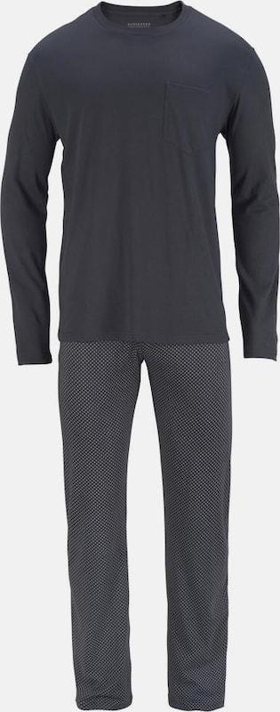 SCHIESSER Pyjama lang mit gemusterter Hose