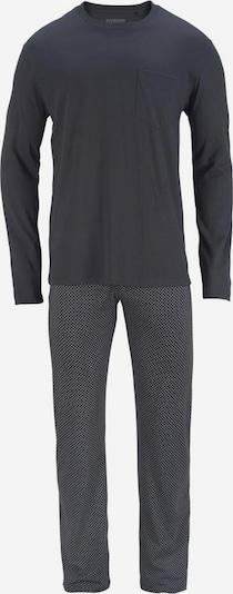 SCHIESSER Дълга пижама в камък / тъмносиво, Преглед на продукта