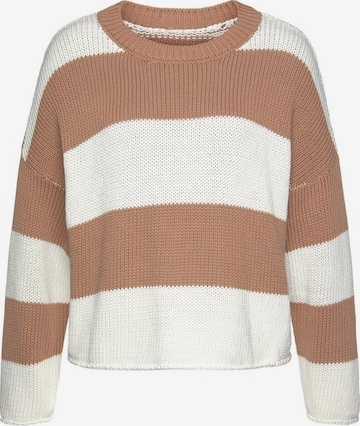 LASCANA Sweater in Brown