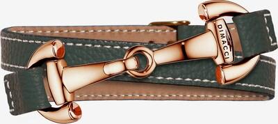 Dimacci Armband in gold / taupe / grün, Produktansicht