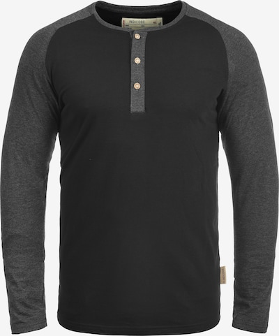 INDICODE JEANS Rundhalsshirt 'Winston' in schwarz, Produktansicht