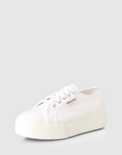 SUPERGA Sneaker in weiß: Frontalansicht