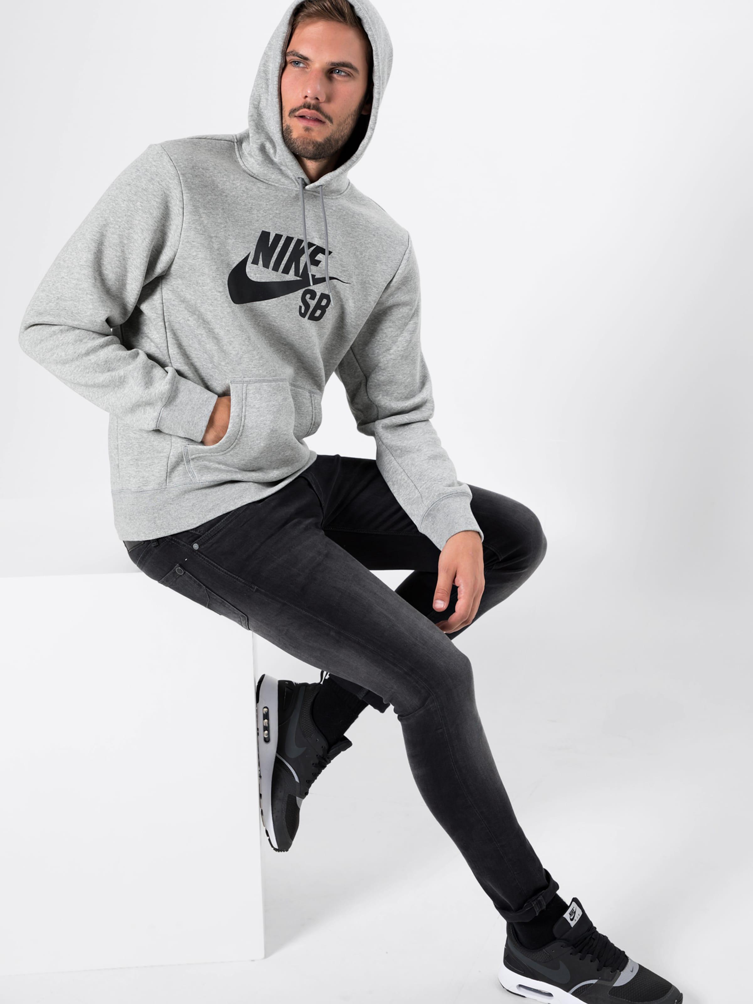 Nike Nike Hoodie In GraumeliertSchwarz Nike Sb Hoodie Sb In GraumeliertSchwarz 4Rjq5L3A