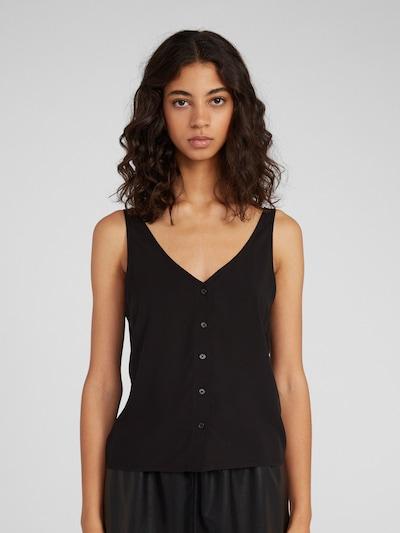 EDITED Blusentop 'Kendra' in schwarz, Modelansicht