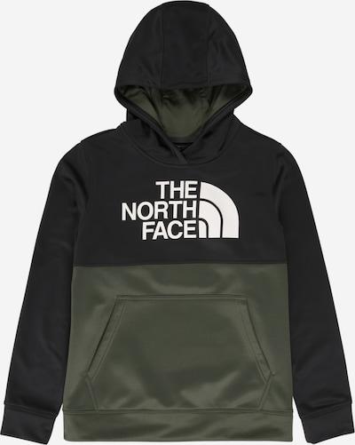 THE NORTH FACE Sweatshirt 'SURGENT' in oliv / schwarz / weiß, Produktansicht