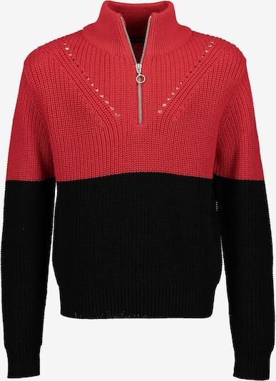 BLUE SEVEN Pullover in rot / schwarz, Produktansicht