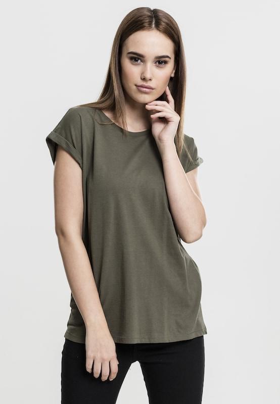 En Extended shirt Urban Classics T 'ladies Shoulder Tee' Olive CxtQBshrdo