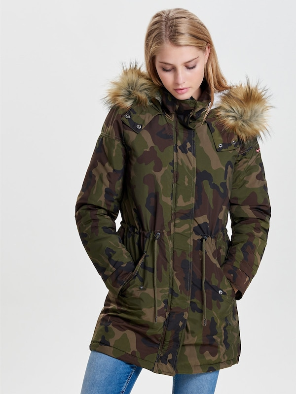 only parka camouflage in gr n about you. Black Bedroom Furniture Sets. Home Design Ideas
