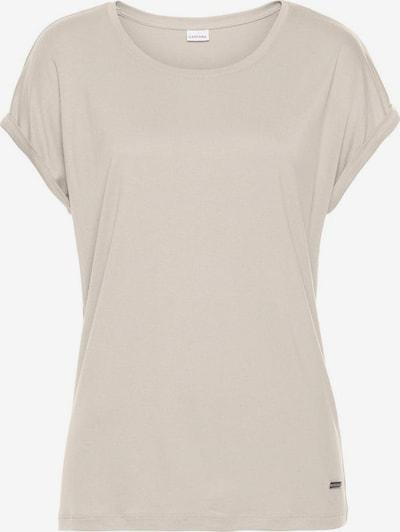 LASCANA Koszulka do spania w kolorze beżowym, Podgląd produktu