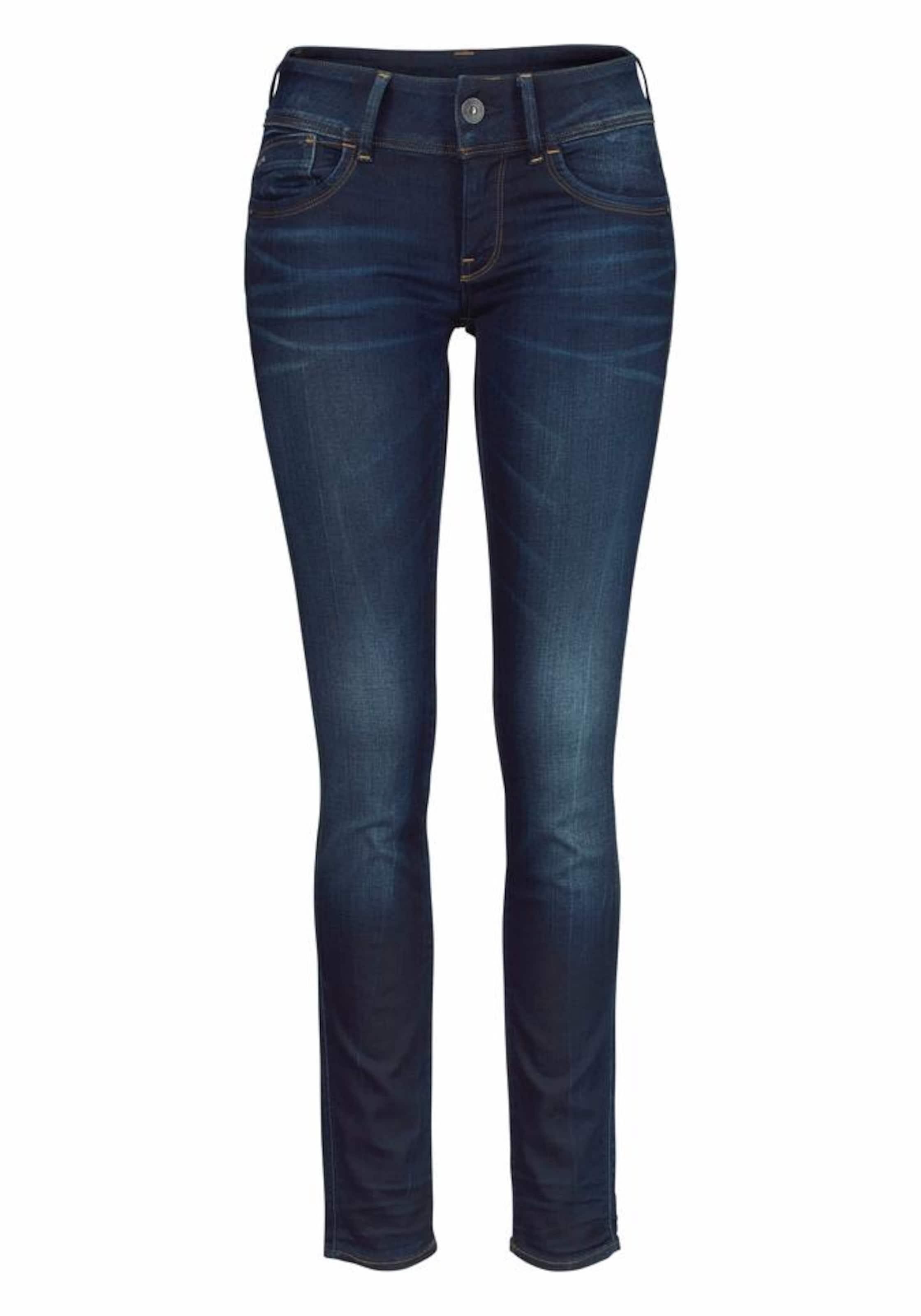 'lynn' Waschung G Skinny In star Raw Nachtblau Used Mit Jeans W2YE9IDH