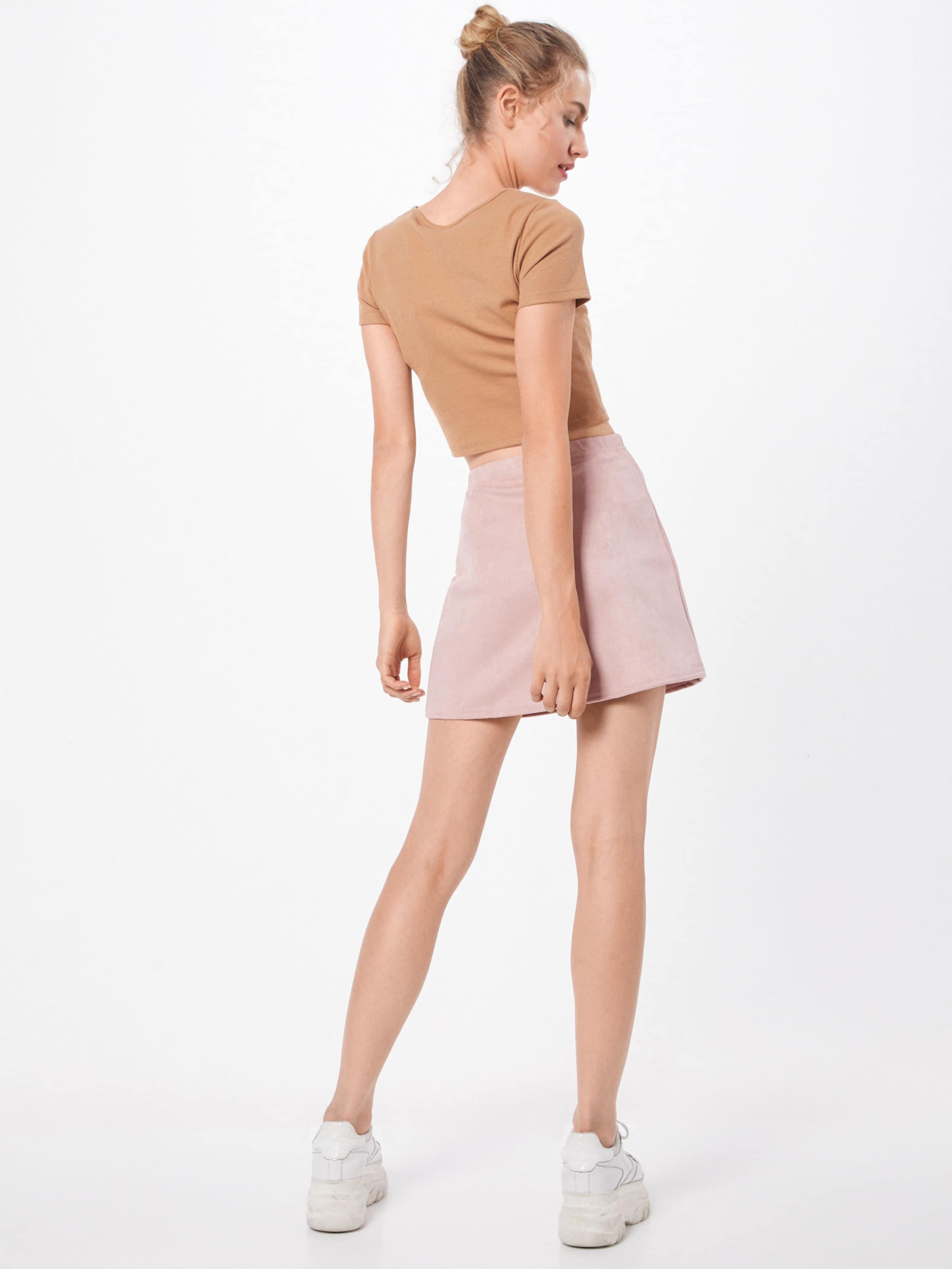 Skirt' Aline Mini Rock In Boohoo 'suedette Rosa mNn0v8w
