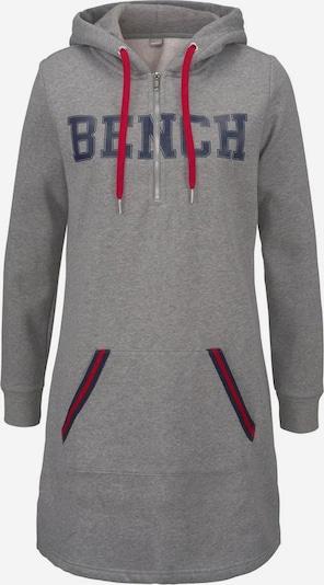 BENCH Robe en bleu foncé / gris chiné / rouge feu, Vue avec produit