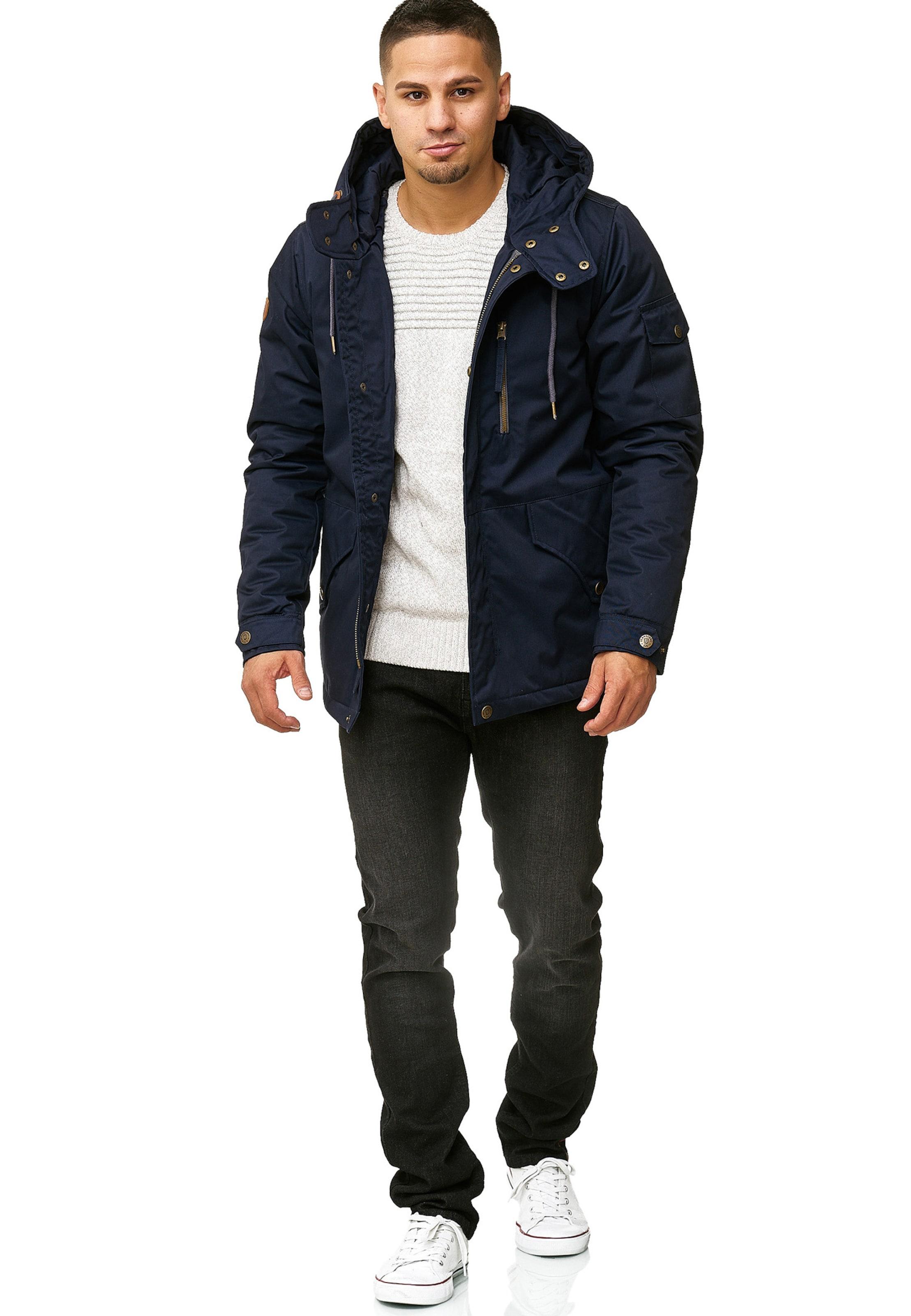 Indicode Marine Jeans D'hiver 'elmhurts' En Bleu Veste IY7gyvmbf6