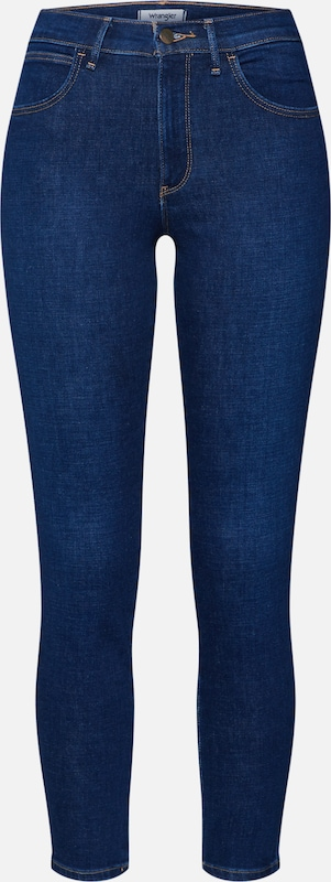 WRANGLER Skinny Jeans 'High Rise' in blue denim, Produktansicht