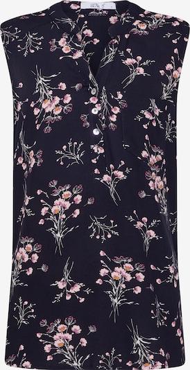 Hailys Blusentop 'Marlena' in dunkelblau / rosa / schwarz, Produktansicht