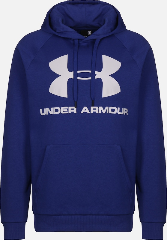 UNDER ARMOUR Pullover  'Rival' in royalblau / weiß: Frontalansicht