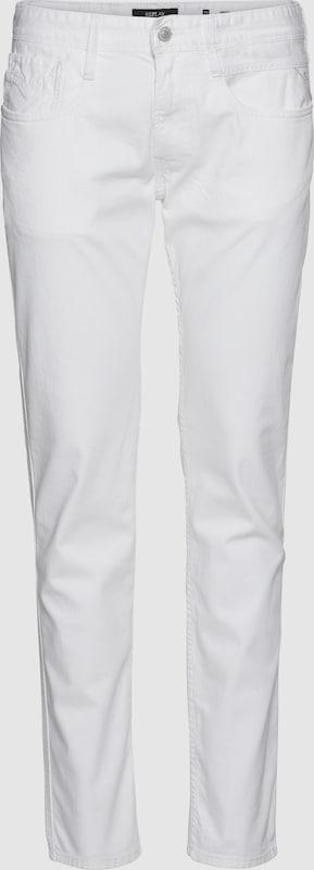 REPLAY Jeans 'ANBASS' in Weiß denim  Freizeit, schlank, schlank