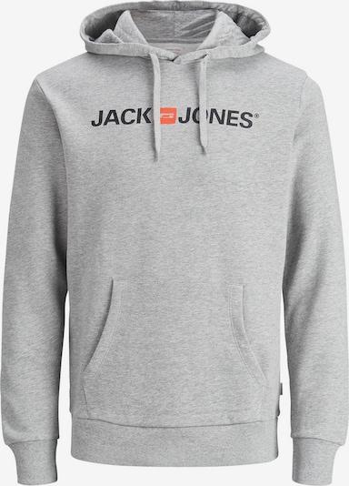 JACK & JONES Sweatshirt in dunkelgrau / orange / schwarz, Produktansicht