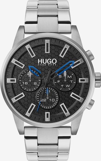 HUGO Uhr in blau / schwarz / silber, Produktansicht