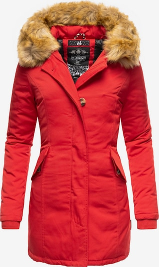 MARIKOO Wintermantel 'Karmaa' in rot, Produktansicht
