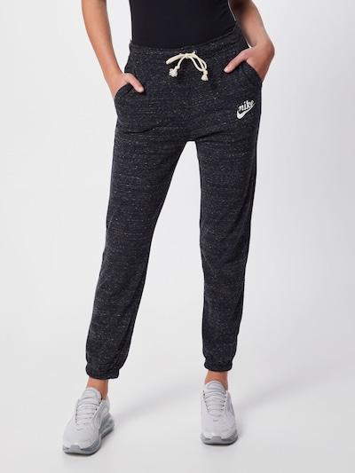 Pantaloni 'W NSW GYM VNTG PANT' Nike Sportswear di colore grigio basalto / bianco perla, Visualizzazione modelli