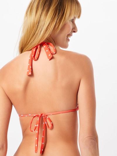 CATWALK JUNKIE Hauts de bikini 'S DOTS TOP ' en orange / blanc: Vue de dos