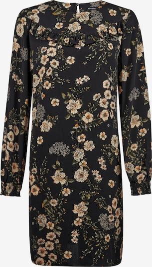 Dorothy Perkins Kleita 'BLACK FLORAL RUFFLE LONG SLEEVE SHIFT DRESS' pieejami melns: Priekšējais skats
