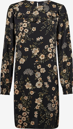 Dorothy Perkins Kleit 'BLACK FLORAL RUFFLE LONG SLEEVE SHIFT DRESS' must, Tootevaade