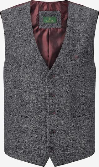 Charles Colby Gilet de costume 'Duke Richard' en gris foncé / lie de vin, Vue avec produit