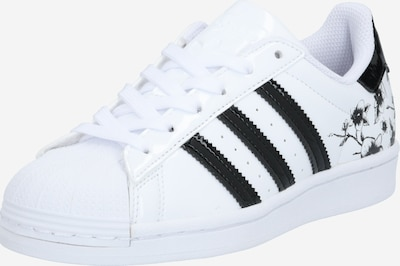 ADIDAS ORIGINALS Baskets 'Superstar J' en noir / blanc, Vue avec produit