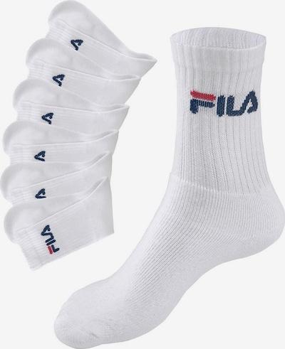 FILA Socken in dunkelblau / rot / weiß, Produktansicht