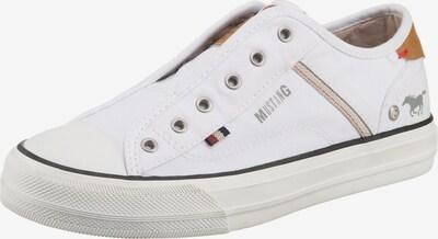 MUSTANG Slip-On-Sneaker in orange / weiß, Produktansicht