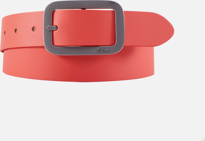 S.oliver Red Label Leather Belt With Metal Close
