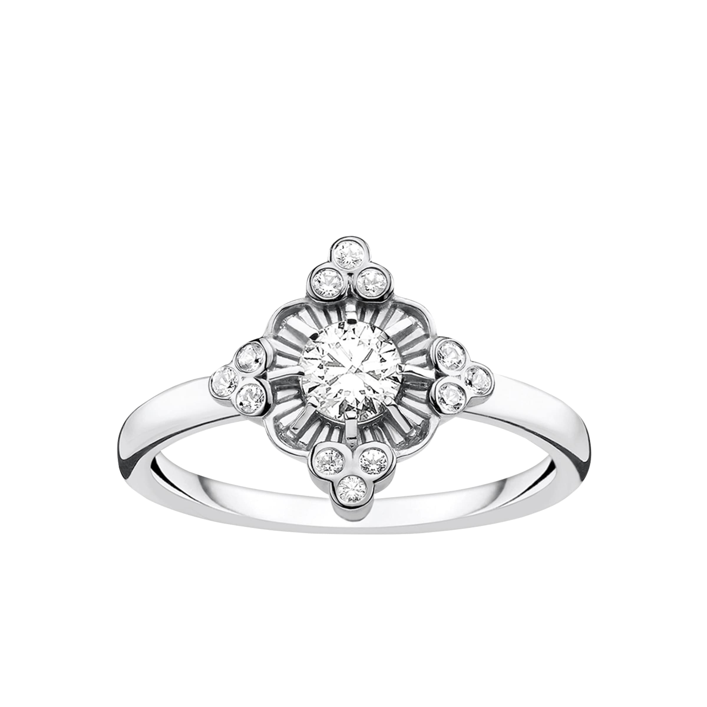 Thomas Sabo Ring 'Royalty Weiss' in silber