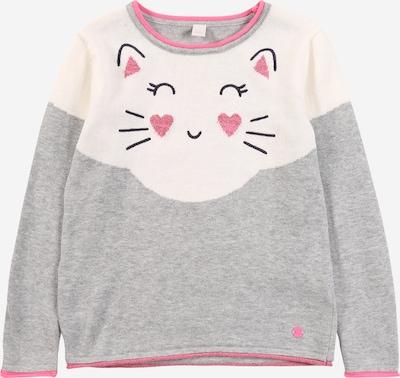 ESPRIT Sweter w kolorze szary / różowy / białym, Podgląd produktu