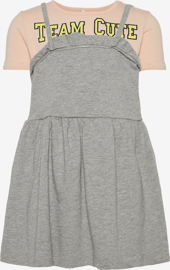 NAME IT T-Shirt-Kleid in grau / pfirsich, Produktansicht