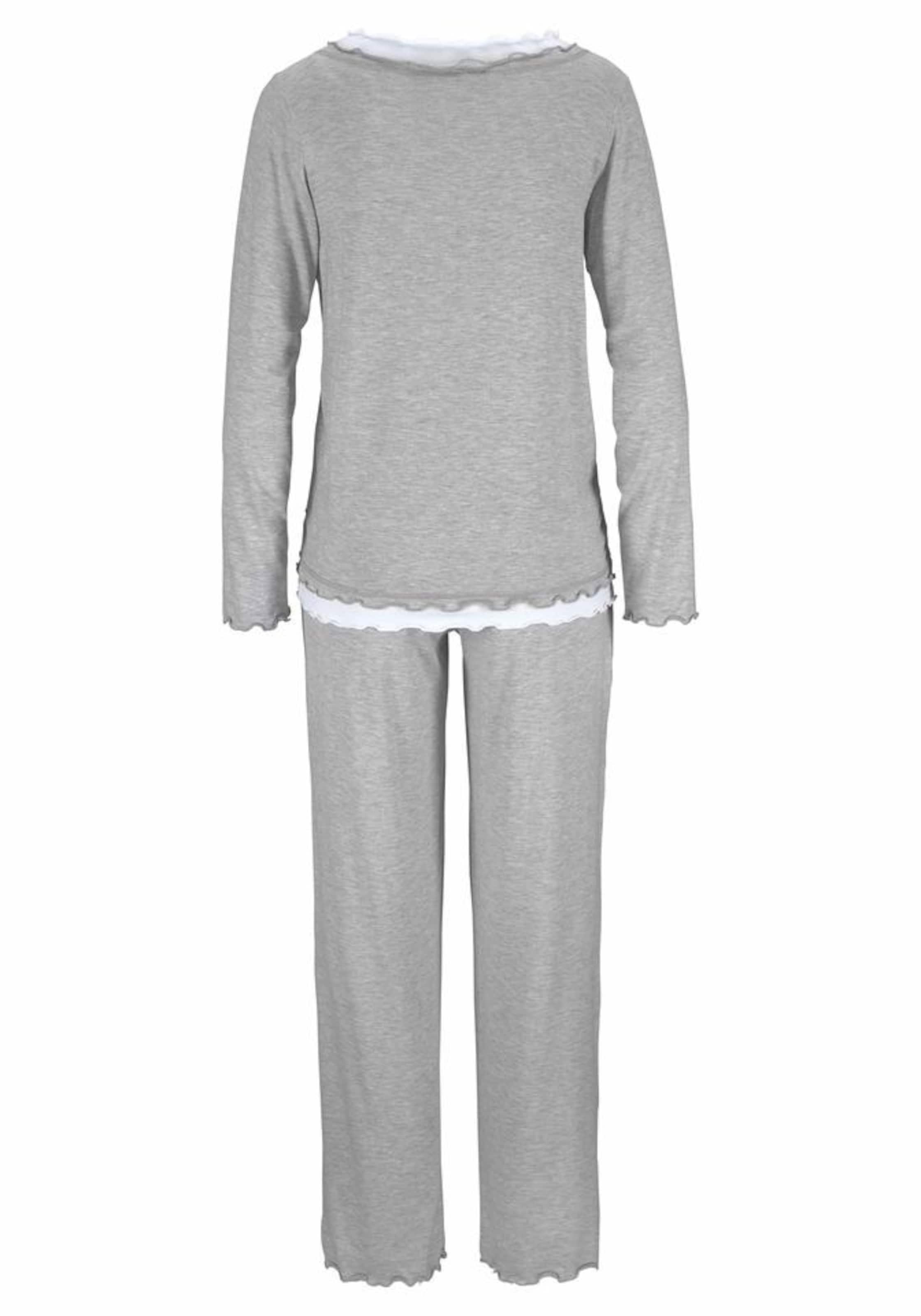 Graumeliert Pyjama Layeroptik In Lascana Hochwertiger CWdeErBQxo