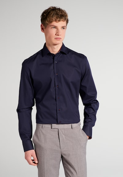 ETERNA Zakelijk overhemd in de kleur Nachtblauw: Vooraanzicht