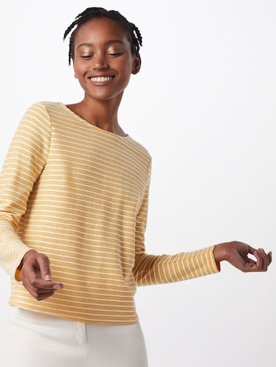 ONLY Trui 'ONLELLY STRIPE TOP' in de kleur Geel / Wit: Achteraanzicht