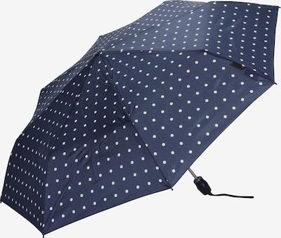 KNIRPS Taschenschirm 'T .200' 28 cm in dunkelblau / weiß, Produktansicht