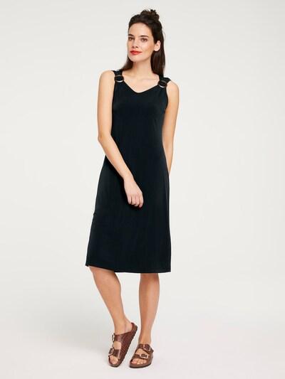 heine Kokerjurk in de kleur Zwart, Modelweergave
