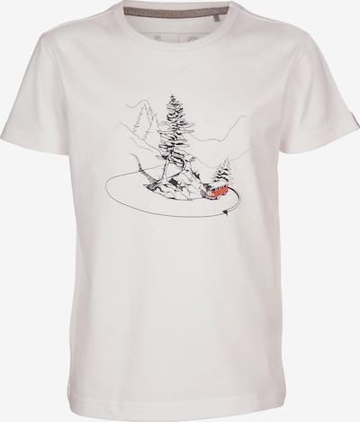 ELKLINE T-Shirt 'Curvybus' in rot / schwarz / weiß, Produktansicht