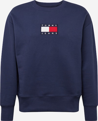 Tommy Jeans Sweat-shirt en bleu marine / rouge / blanc: Vue de face