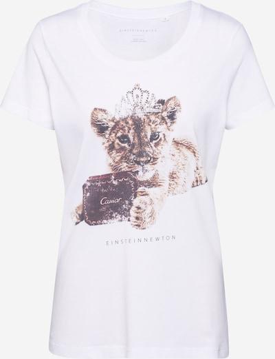 EINSTEIN & NEWTON Shirt in sand / rostbraun / weiß, Produktansicht