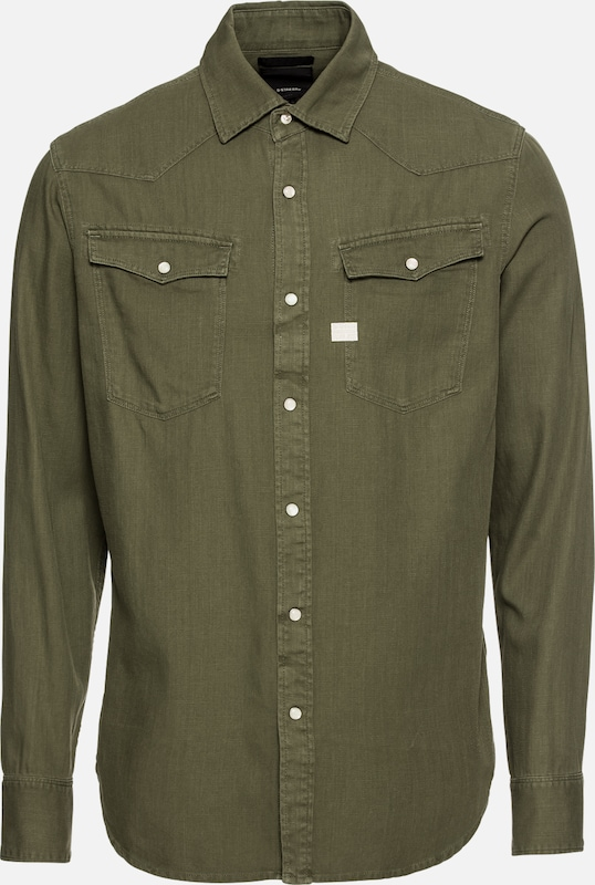 Chemise Raw En '3301 s' G Shirt star Olive L gY6vbf7y