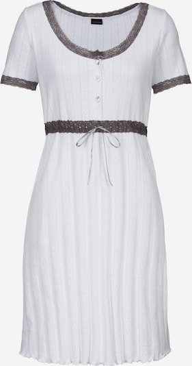 LASCANA Ajour Sleepshirt mit Spitzendetails in naturweiß, Produktansicht