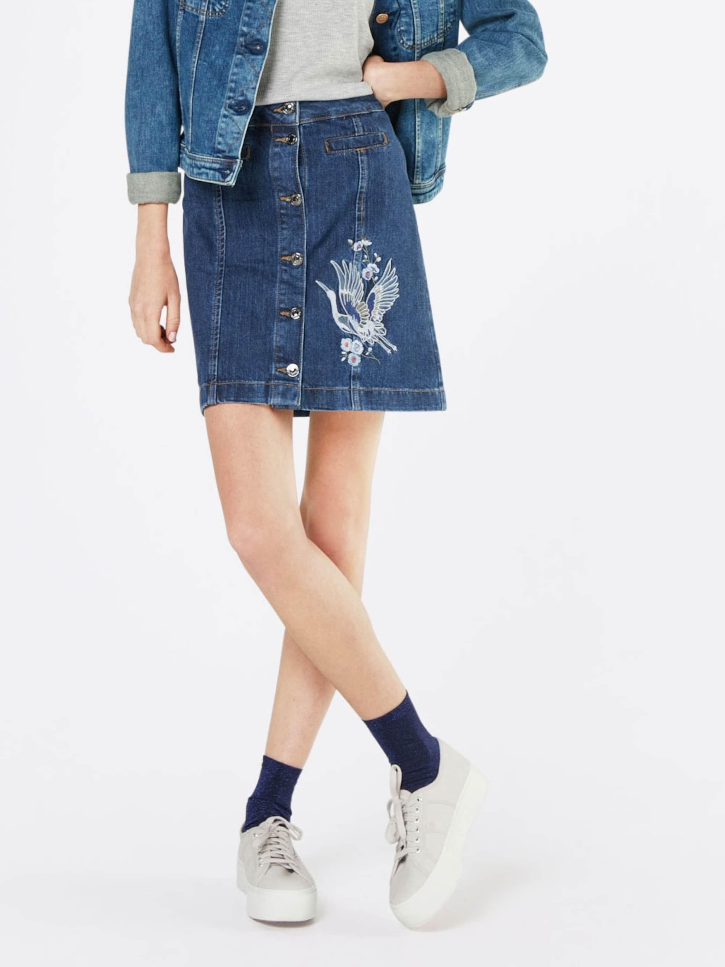 Billig Verkauf Mit Mastercard Größte Anbieter TOM TAILOR DENIM Jeans Rock mit Stickerei Besuchen Sie Günstig Online LieVOV2z