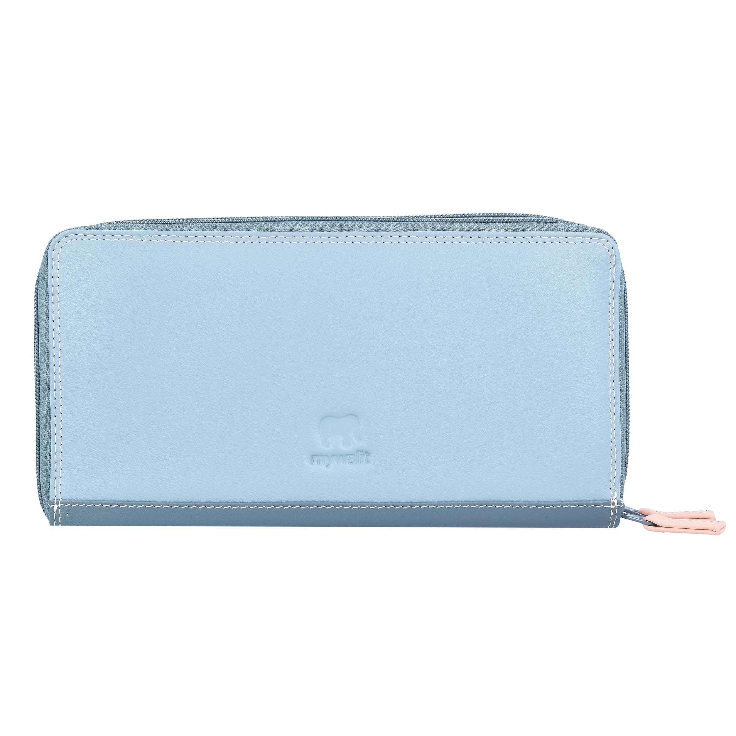 fold' 'medium monnaies En Gris Mywalit Tri Porte Abricot PastelClair Bleu Melon OTPkXZuiwl