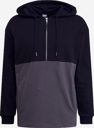 Urban Classics Sweatshirt in dunkelgrau / schwarz, Produktansicht