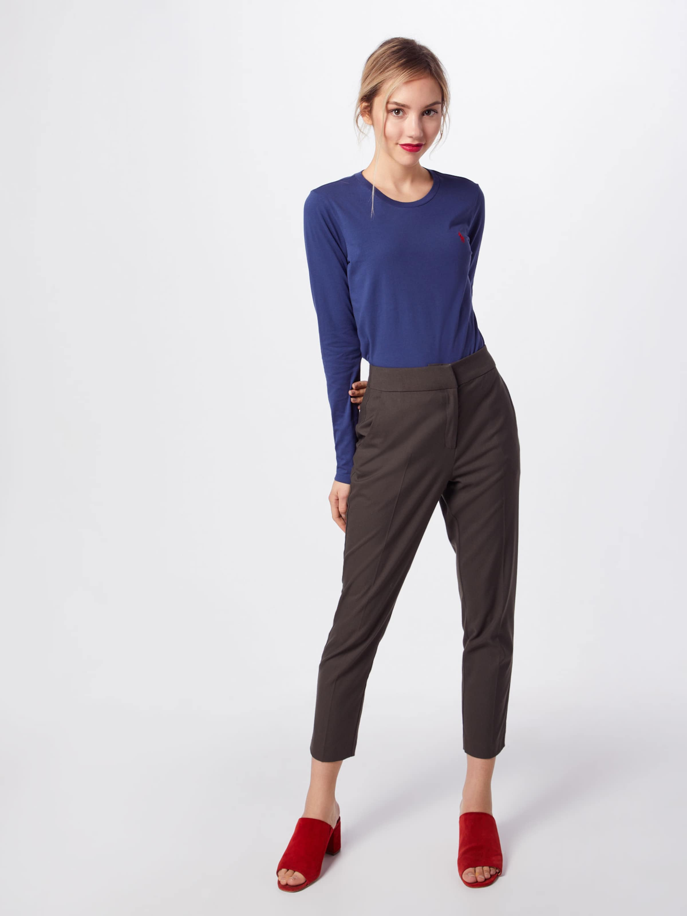 long Bleu Marine knit' Sleeve Pp T Ralph 'ls T shirt W En Polo Lauren RA54jL3